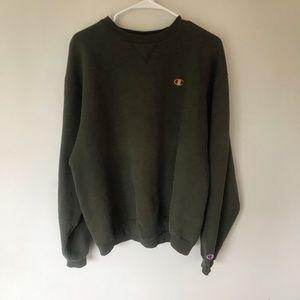 Vintage Champion green pullover sweatshirt size Lg